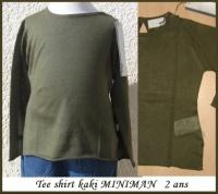 2A_Tshirt ML kaki MINIMAN 10 €