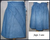 3A Jupe jeans fin 1 €