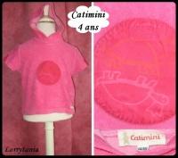 4A Tshirt CATIMINI 4,50 € rose capuche
