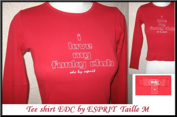T36_tee shirt rouge ESPRIT 5 €