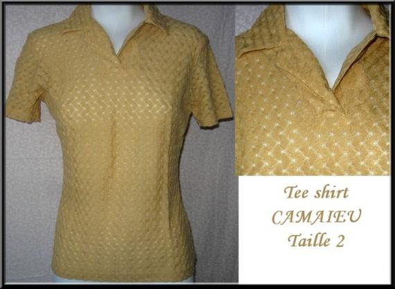 T38_40 tee shirt CAMAIEU 2,50 €