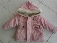 Blouson hiver rose 3€
