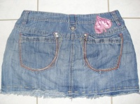 dos mini jupe jeans taille 42 prix 5€