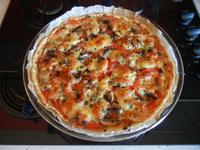 tarte tomates champis oignons mozza