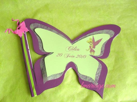 livre d'or papillon et fée clochette