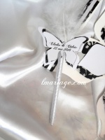 stylos livre d'or papillon dentelle