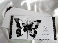 faire-part papillon dentelle