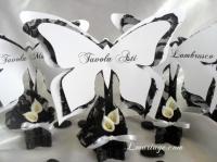 marque table papillon dentelle