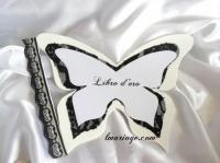 livre d'or papillon dentelle