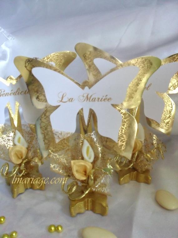 marque place papillon or et blanc