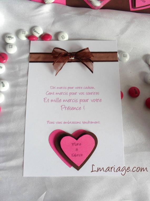 carte de remerciement bonbon
