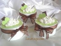 boite à dragées thème gourmandises anis et blanc