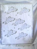 plan de table plumes et diamant