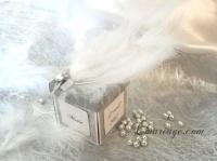 boite a dragées plumes et diamant