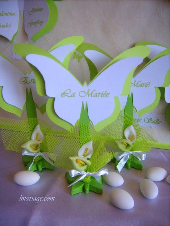 marque place papillon anis et blanc