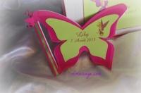 Livre d'or papillon thème fée clochette