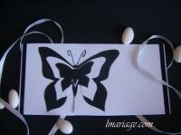 faire-part papillon noir