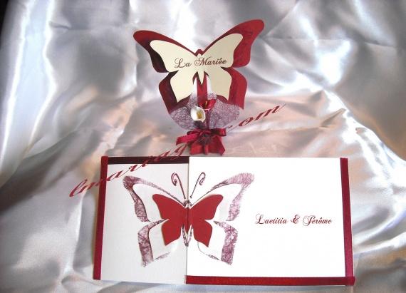 thème papillon, faire part papillon, marque place papillon