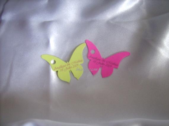 étiquette papillon pour dragées