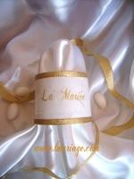 rond de serviette marque place or et blanc