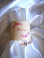 rond de serviette orchidée