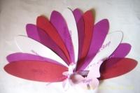 Le menu fleur peronnalisé