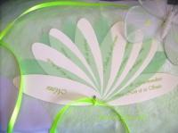 menu fleur anis et ivoire