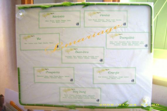 Plan de table bambou et orchidée