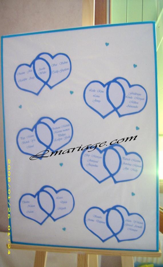 Plan de table coeur