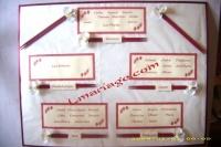 Plan de table orchidée