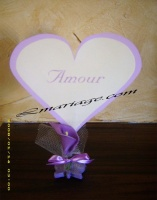 Marque table coeur