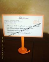 Marque table pancarte