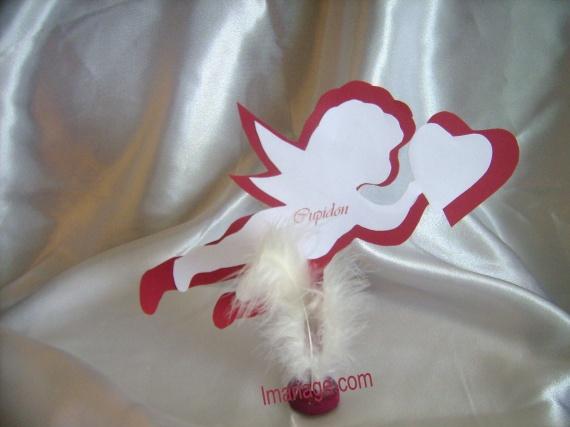 marque table ange bordeaux et blanc