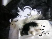 marque place ange noir et blanc
