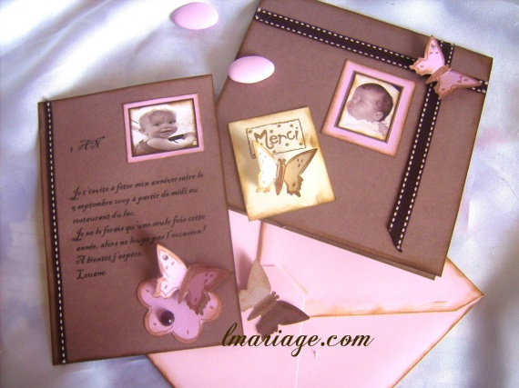 faire-part chocolat et rose