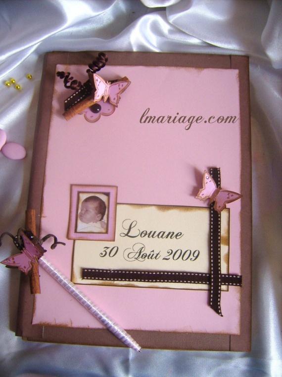 livre d'or chocolat et rose