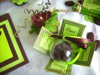boite à dragées chocolat et anis