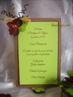 menu bambou et orchidée