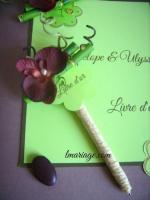 stylos livre d'or bambou et orchidée