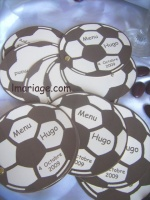 menu ballon de foot