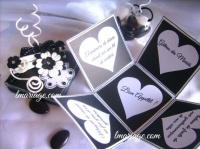 boite coeur noir et blanc