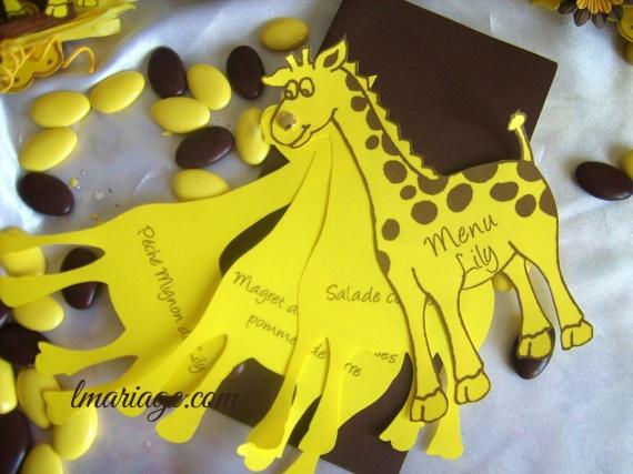 menu girafe
