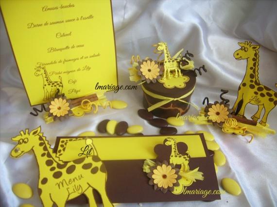 collection girafe chocolat et jaune