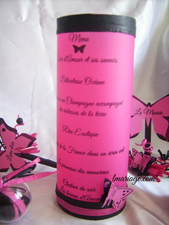menu photophore papillon