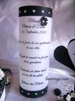 menu photophore noir et blanc