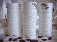 menu photophore orchidée chocolat
