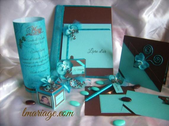 thème turquoise et chocolat