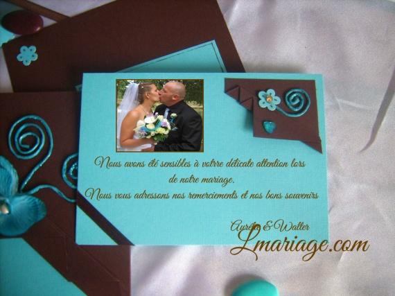 carte de remercement avec photo