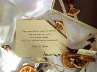 carte de remerciement épices