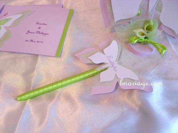 stylos livre d'or papillon